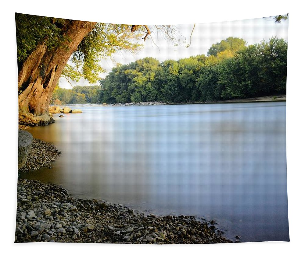 Shell Rock Tapestry featuring the photograph Rivers Edge 2 by Bonfire Photography