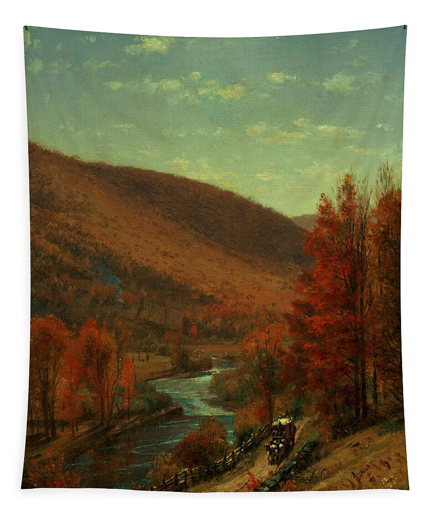 Thomas Worthington Tapestry featuring the painting Road Through Belvedere by Thomas Worthington