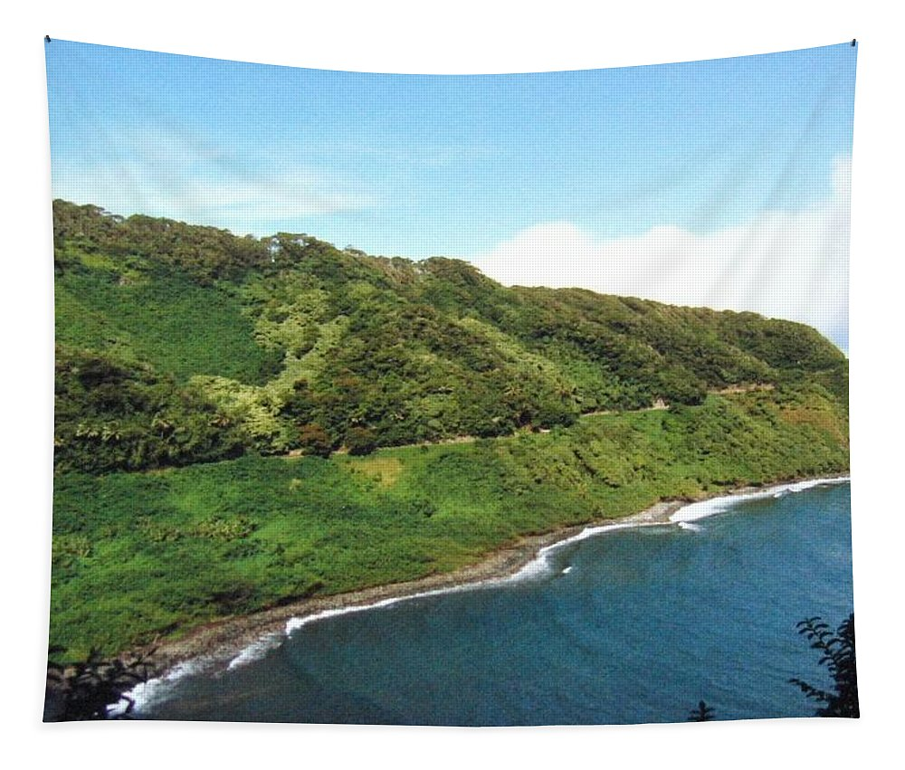 1986 Tapestry featuring the photograph Road To Hana by Will Borden