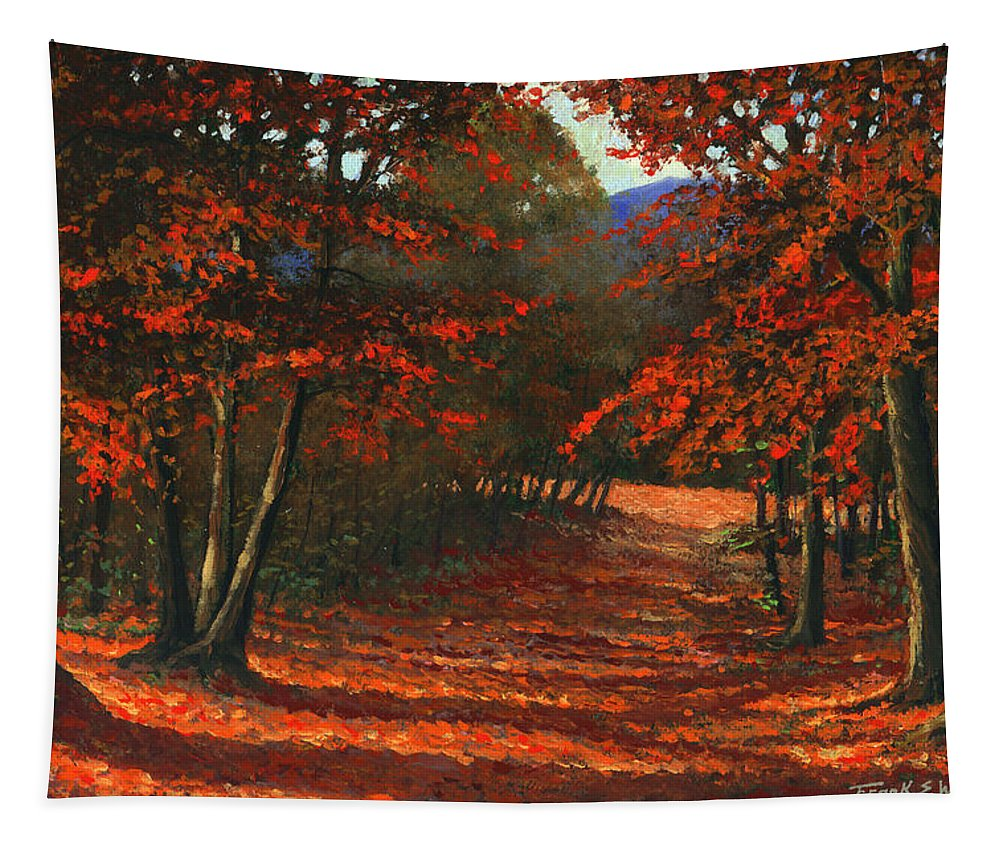 Landscape Tapestry featuring the painting Road To The Clearing by Frank Wilson