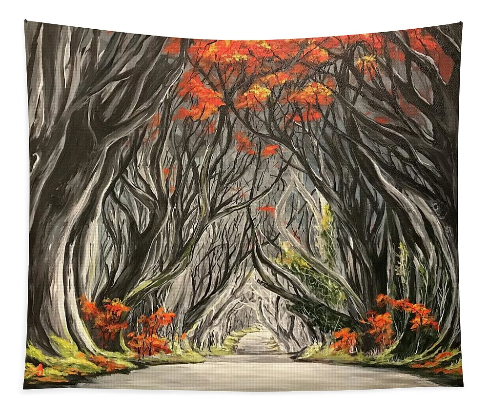 Painting Tapestry featuring the painting Road To The Throne by Alana Judah