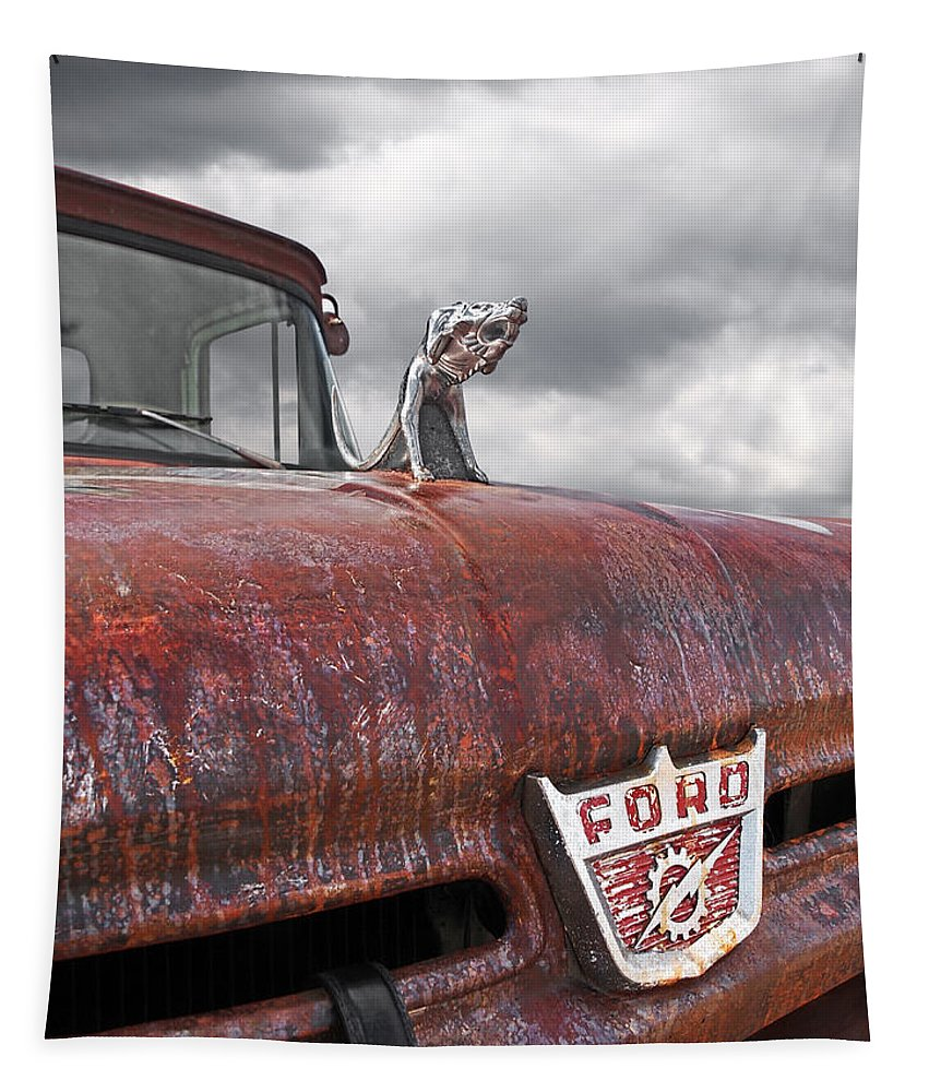 Rat Rod Tapestry featuring the photograph Roadkill Rat Rod by Gill Billington