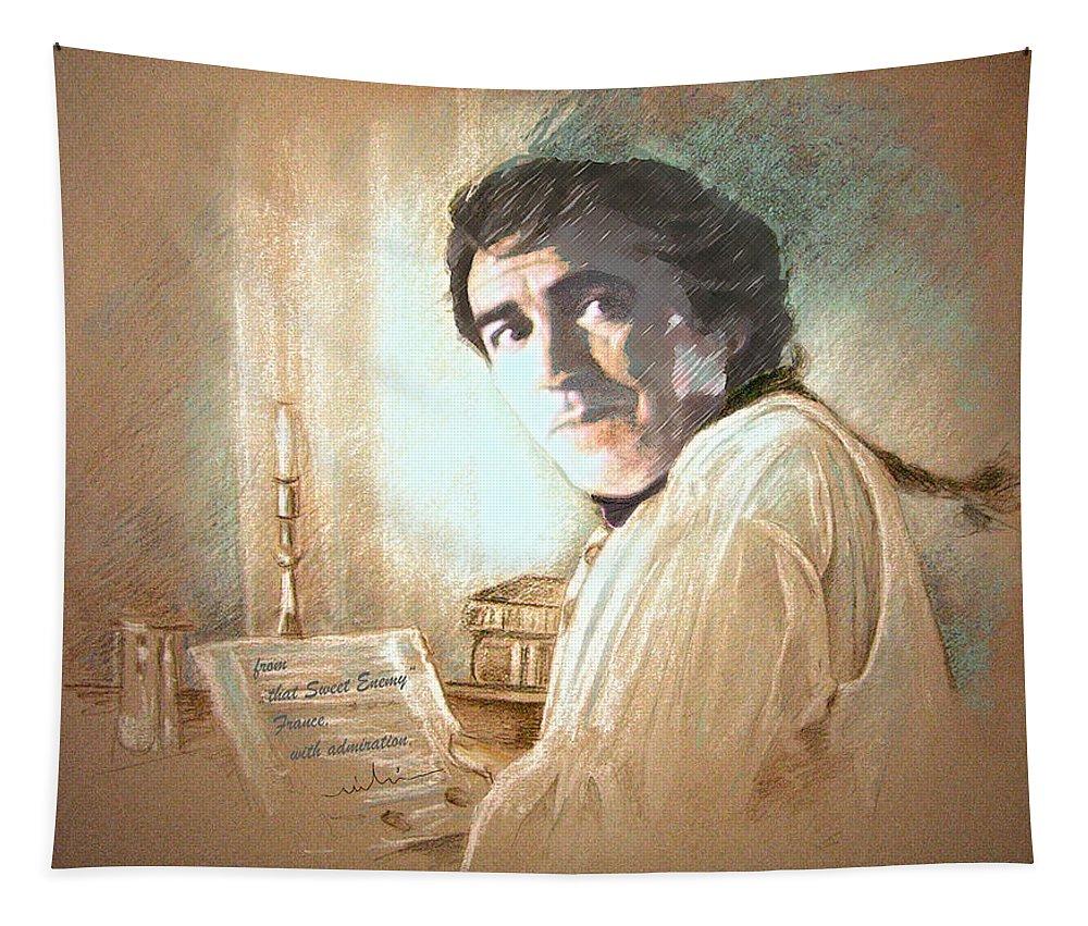 Robert Lindsay Tapestry featuring the painting Robert Lindsay In Hornblower by Miki De Goodaboom