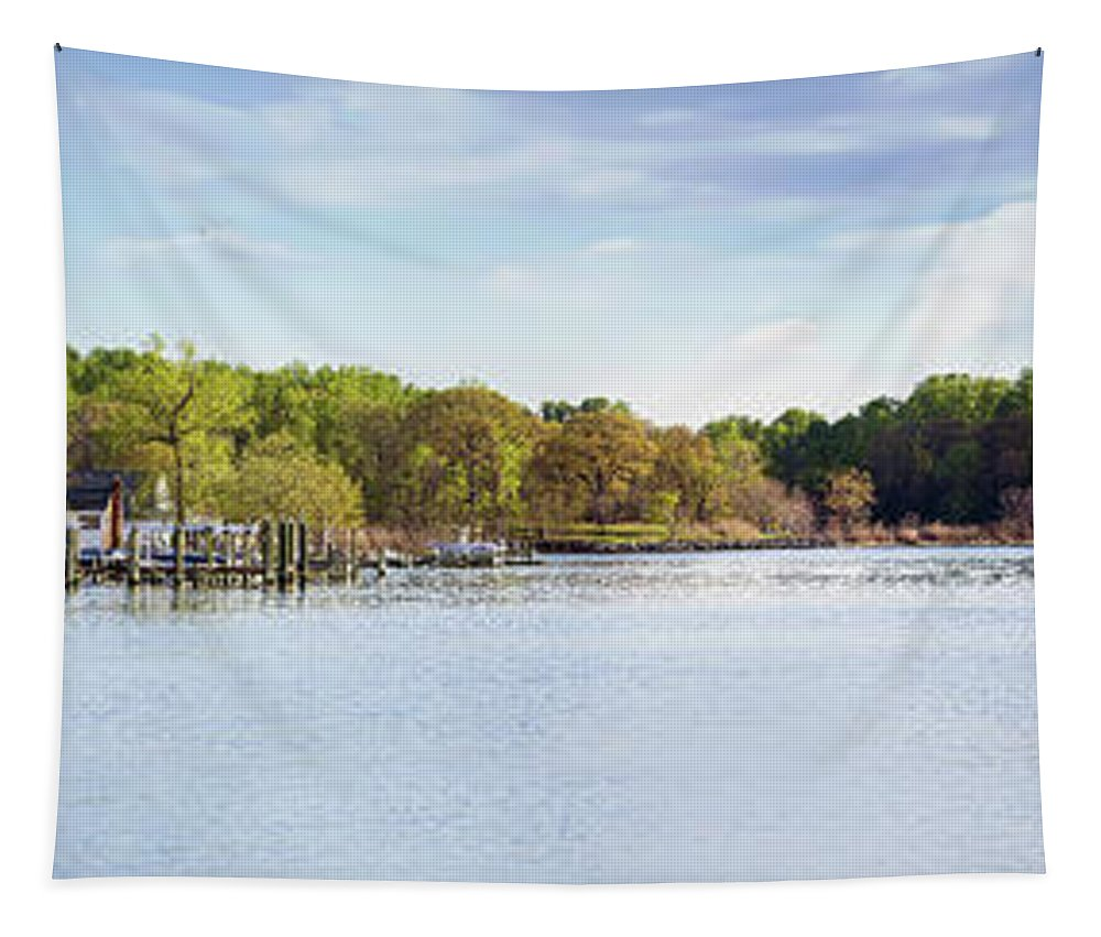 2d Tapestry featuring the photograph Rock Creek - Pano by Brian Wallace