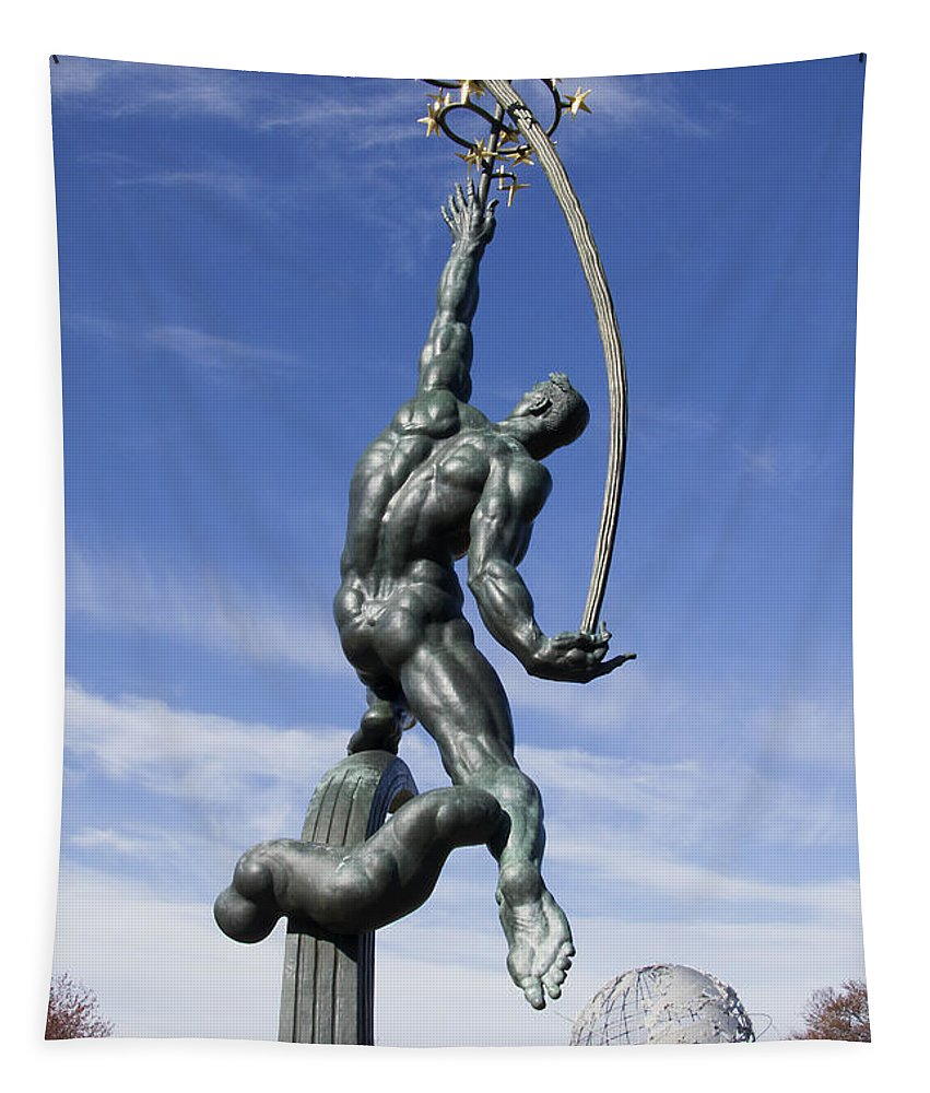 Fair Tapestry featuring the photograph Rocket Thrower by Bob Slitzan