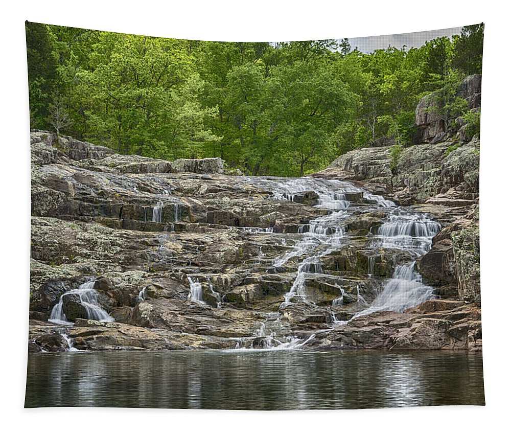 Missouri Tapestry featuring the photograph Rocky Falls Ozark National Scenic Riverways Dsc02788 by Greg Kluempers