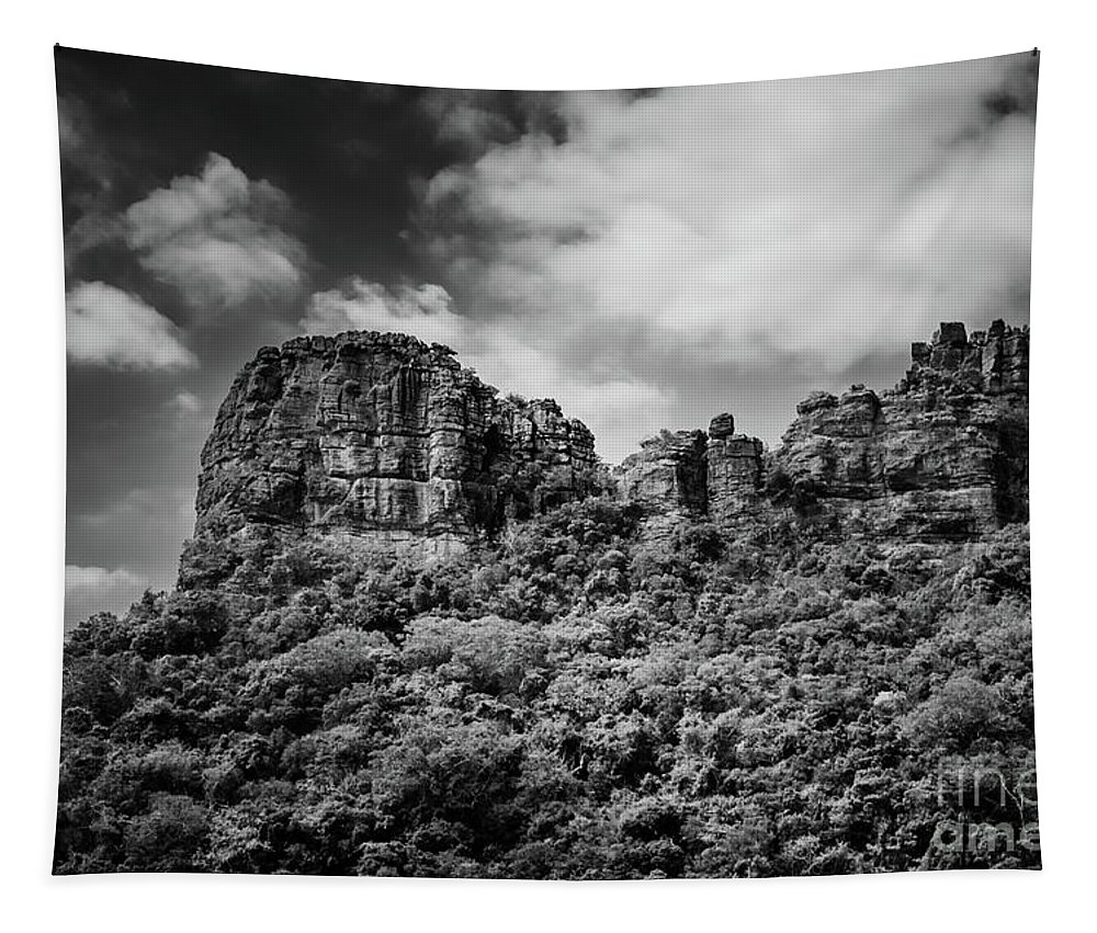 Michelle Meenawong Tapestry featuring the photograph Rocky Landscape by Michelle Meenawong