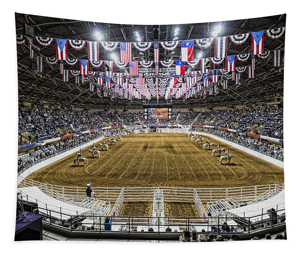Texas Tapestry featuring the photograph Rodeo Time In Texas by Stephen Stookey