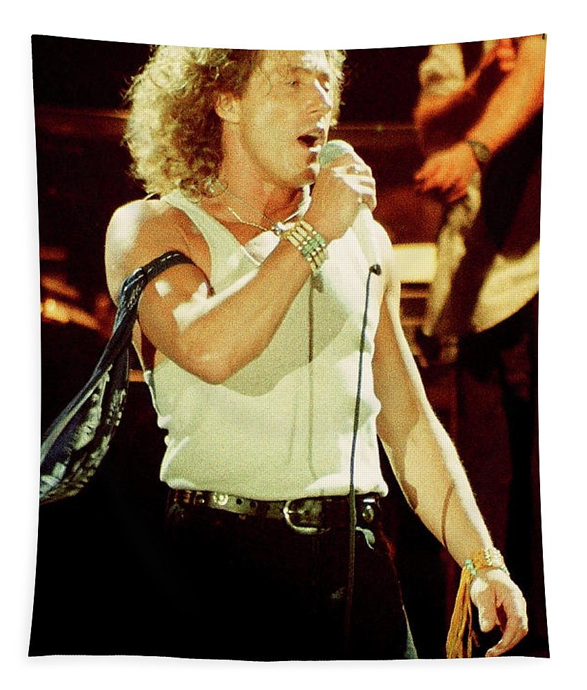 Roger Daltrey Tapestry featuring the photograph Roger Daltrey-94-0171 by Timothy Bischoff
