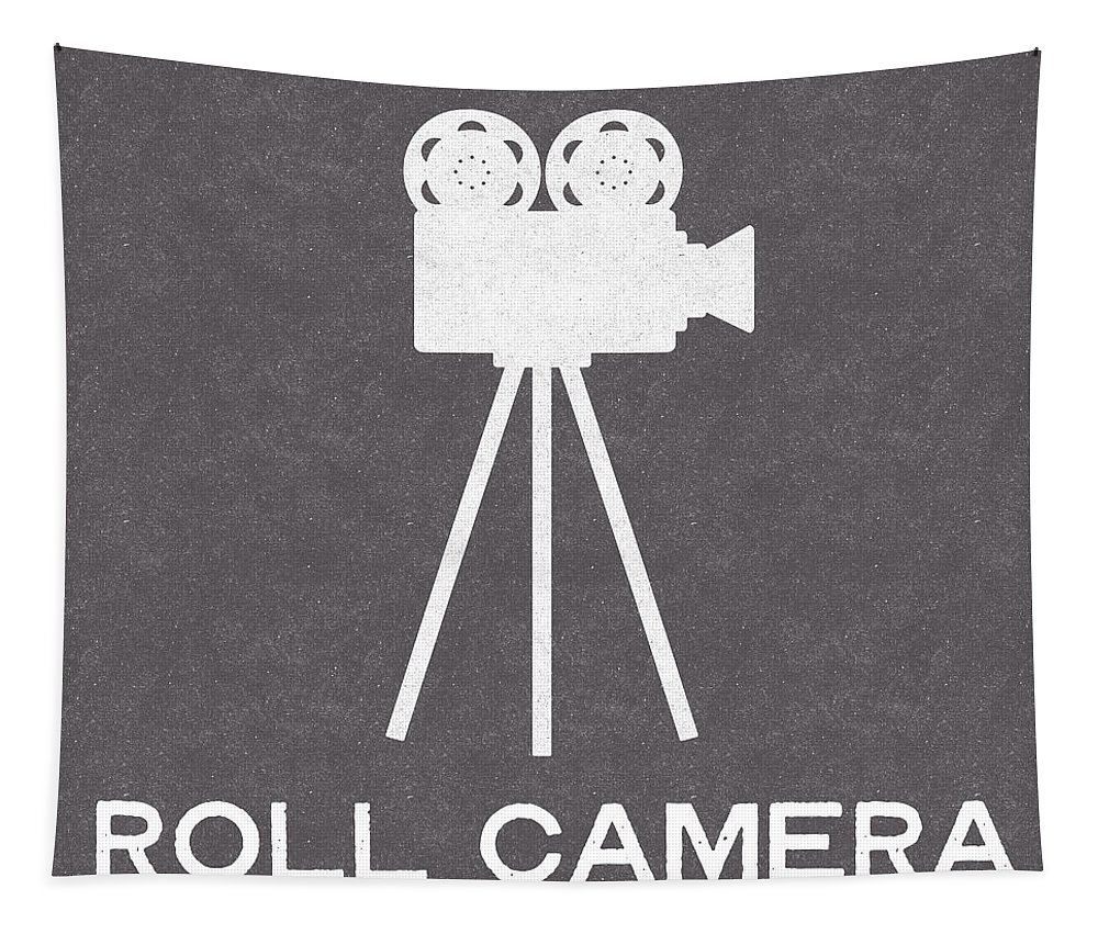 Camera Tapestry featuring the digital art Roll Camera- Art By Linda Woods by Linda Woods