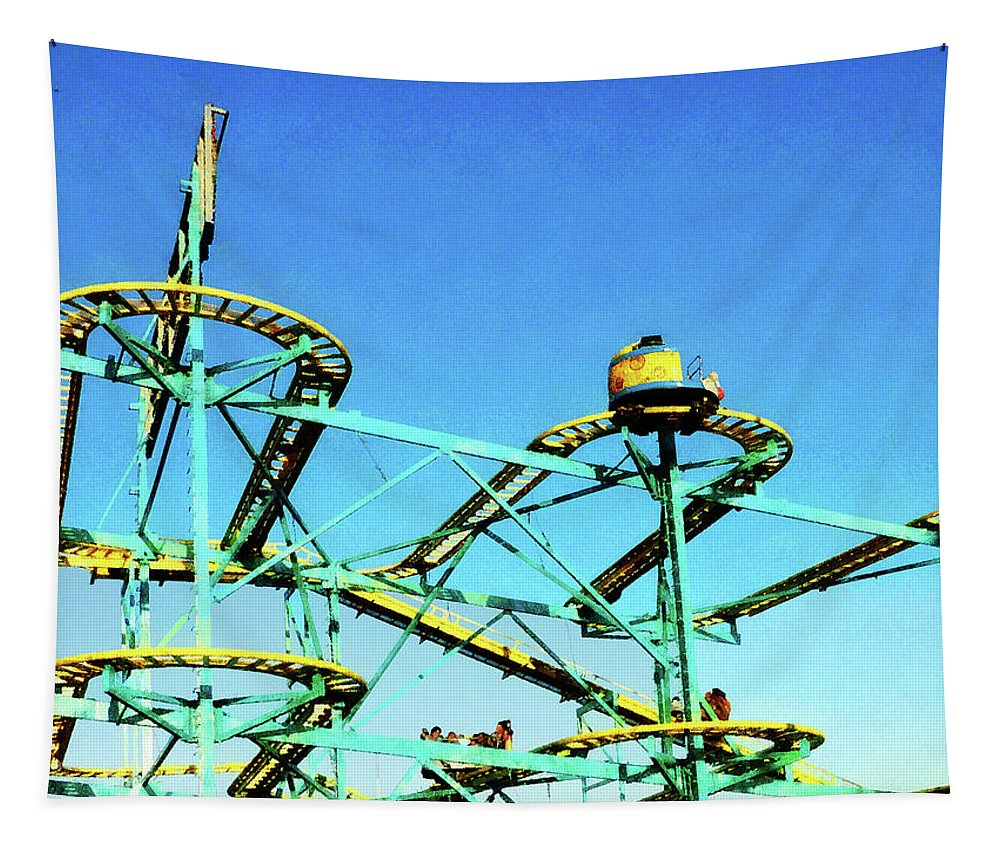 Carnival Tapestry featuring the photograph Roller Coaster by Susan Savad
