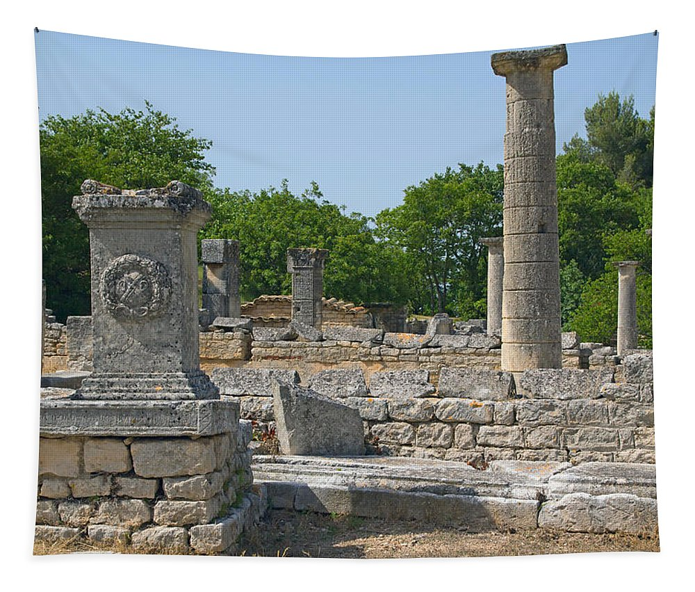 Ancient Tapestry featuring the photograph Roman Ruins Near St. Remy In Provence by Jaroslav Frank