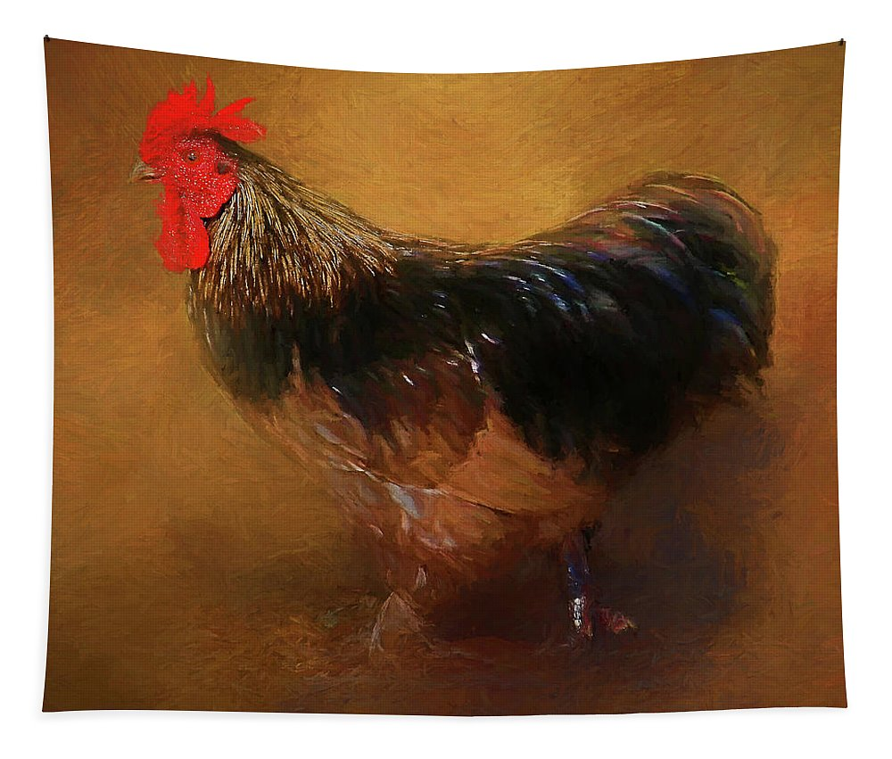 Rooster Tapestry featuring the photograph Rooster Strut by HH Photography of Florida