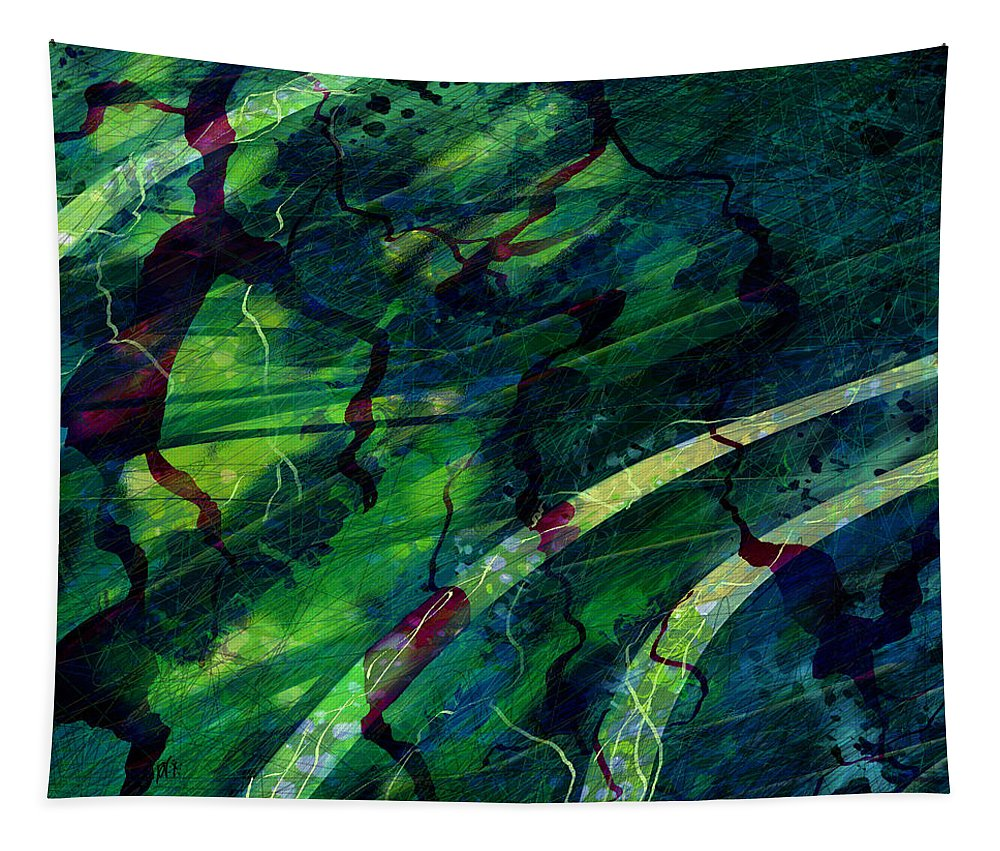 Abstract Tapestry featuring the digital art Root Canal by William Russell Nowicki
