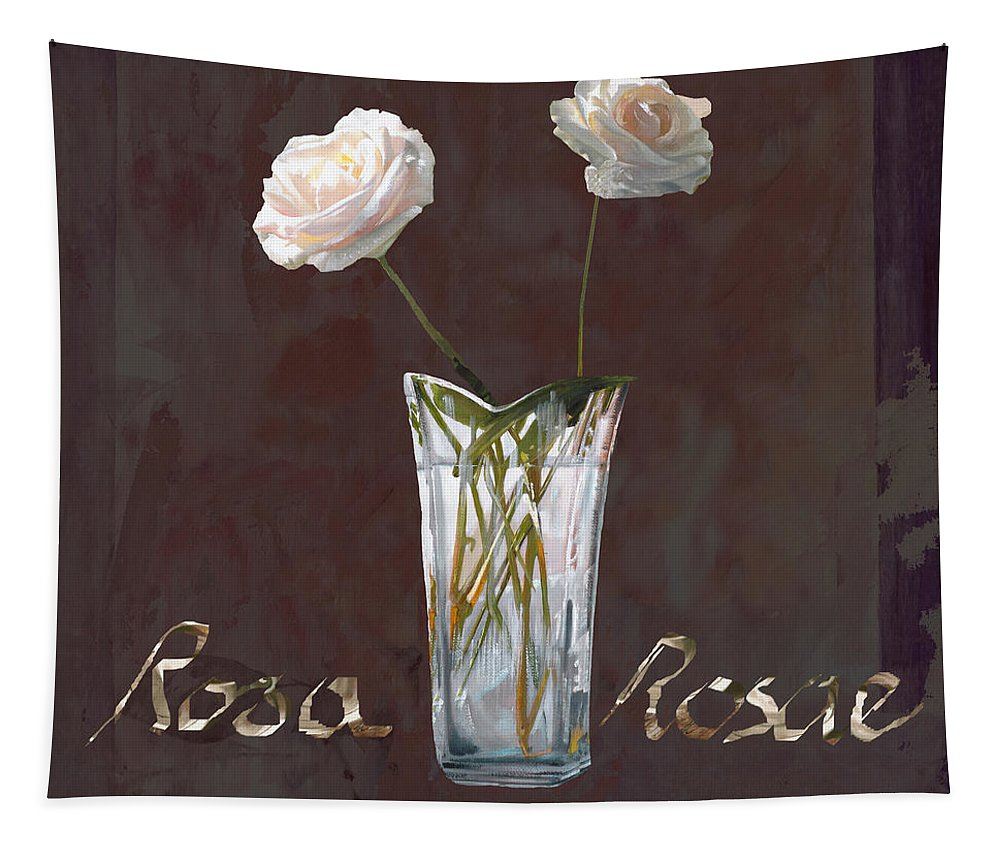Rasa Tapestry featuring the painting Rosa Rosae by Guido Borelli
