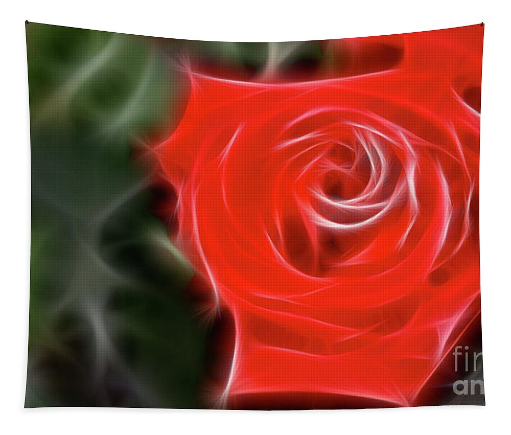 Rose Tapestry featuring the photograph Rose-5890-fractal by Gary Gingrich Galleries