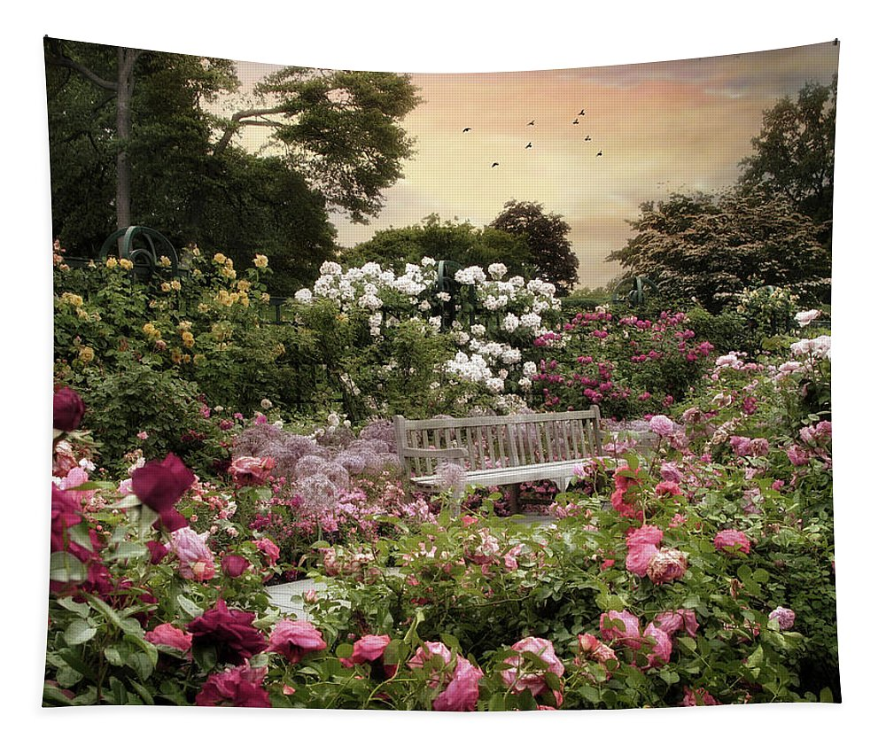 Nature Tapestry featuring the photograph Rose Garden Splendor by Jessica Jenney
