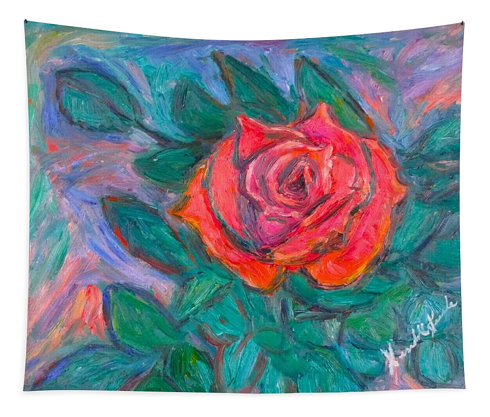 Rose Tapestry featuring the painting Rose Hope by Kendall Kessler