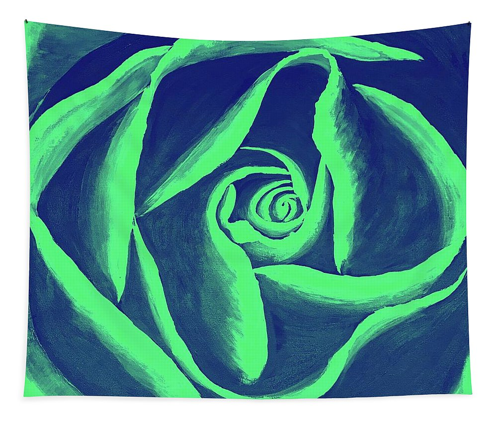 Rose Tapestry featuring the painting Rose Mint by Alana Judah