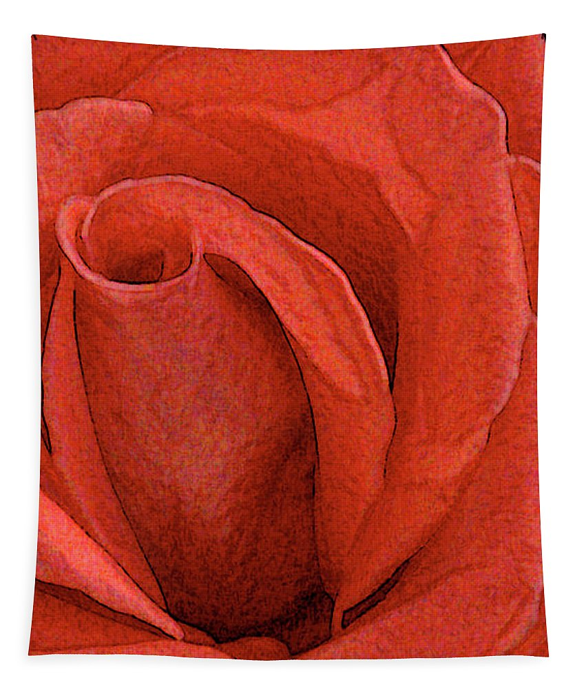 Rose Tapestry featuring the photograph Rose-paintdaubs-2 by Gary Gingrich Galleries