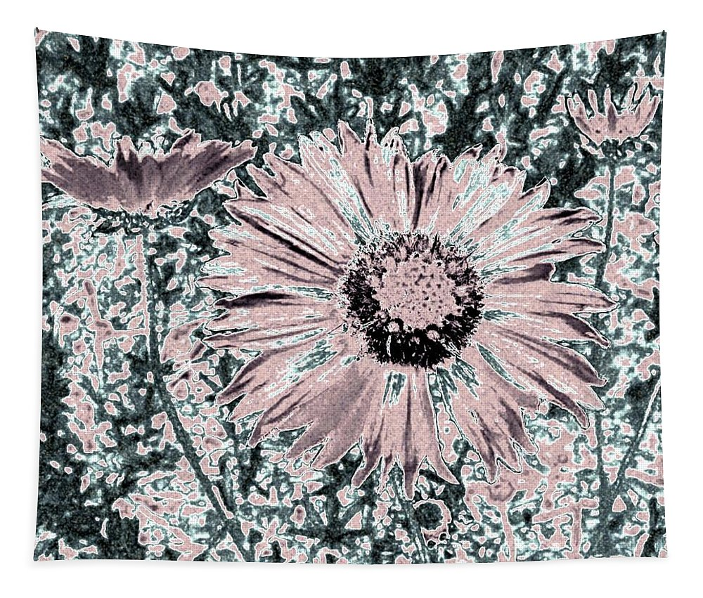 Daisies Tapestry featuring the digital art Rose Wine Daisies by Will Borden