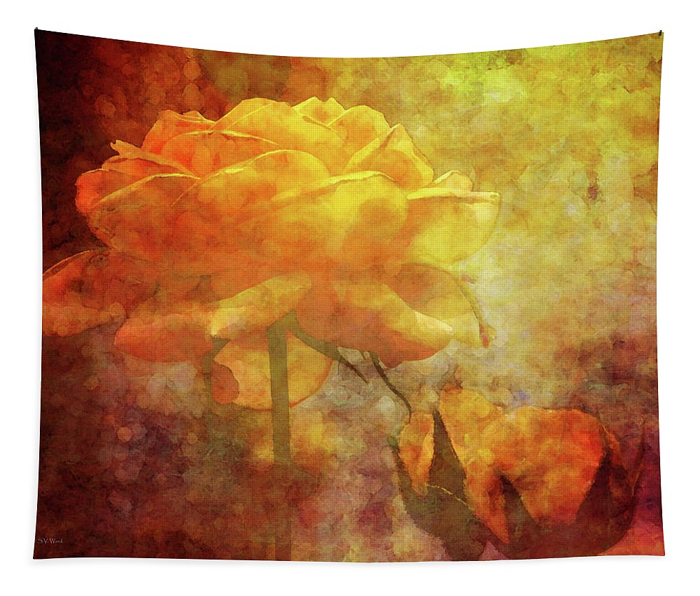 Impression Tapestry featuring the photograph Rose With Twins 1156 Idp_3 by Steven Ward