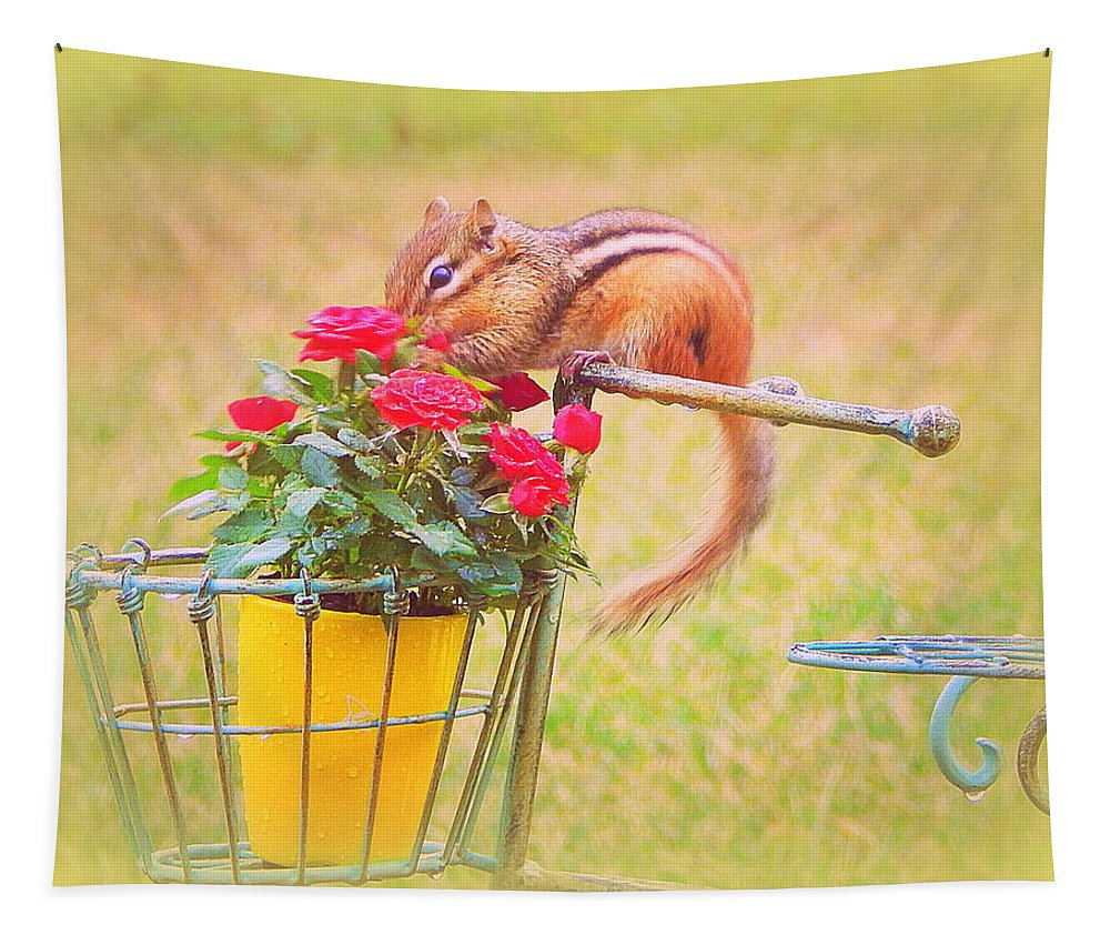 Roses Are Red Tapestry featuring the photograph Roses Are Red by Karen Cook