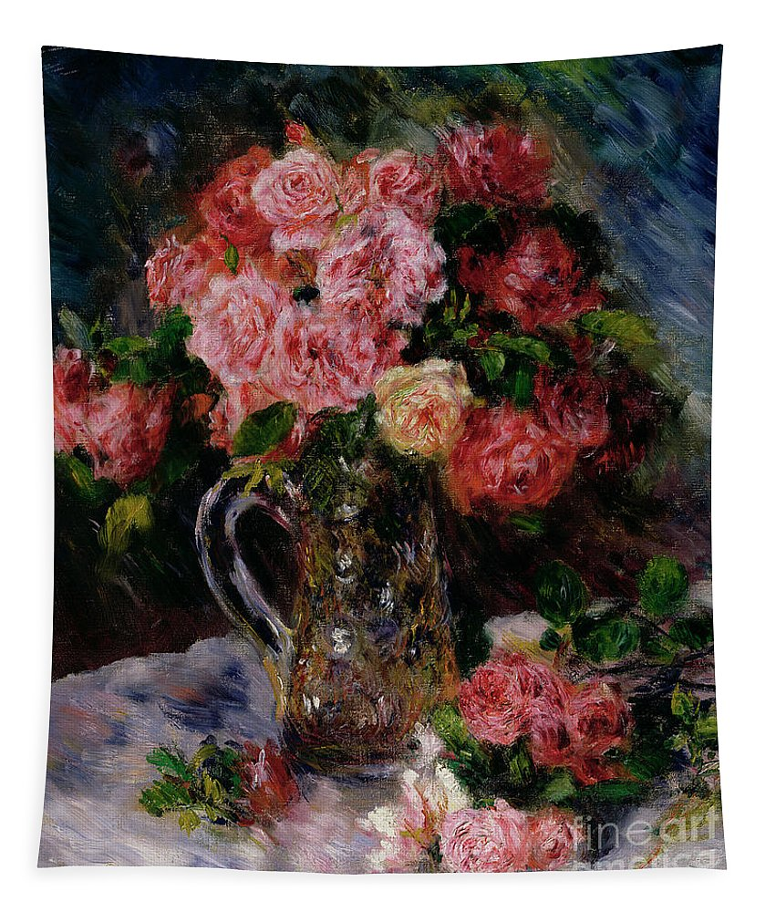Roses Tapestry For Sale By Pierre Auguste Renoir