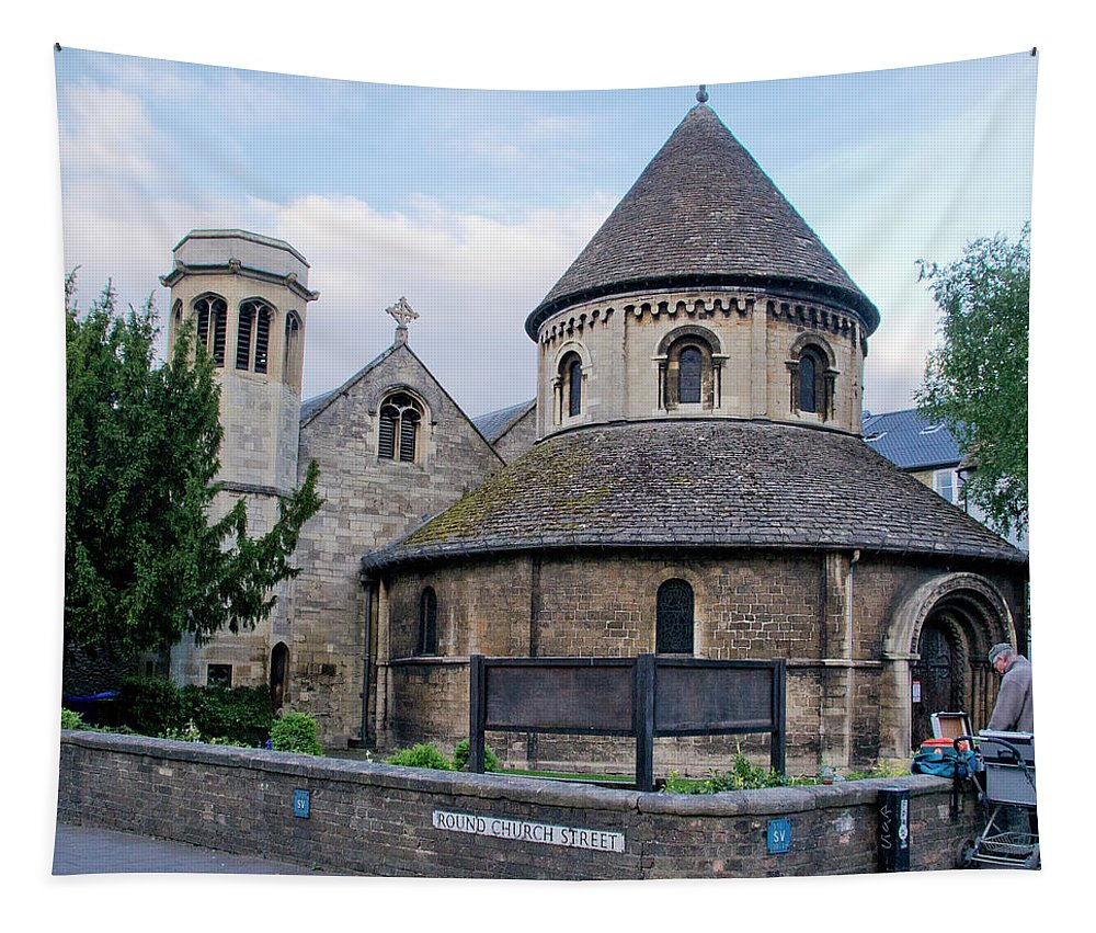 Church Tapestry featuring the photograph Round Church. Cambridge. by Elena Perelman