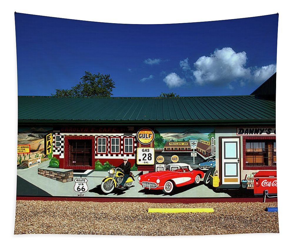 Cuba Tapestry featuring the photograph Route 66 Mural by Mountain Dreams