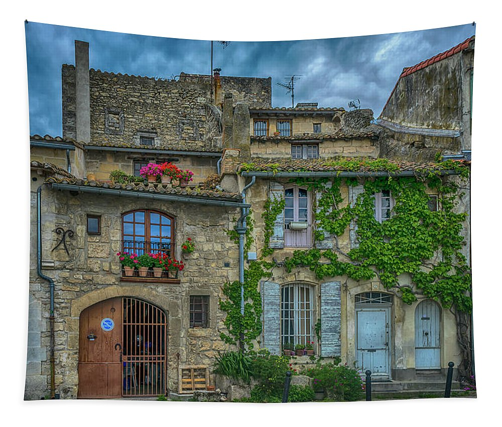 Row Houses Tapestry featuring the photograph Row Houses Arles France_dsc5719_16_dsc5719_16 by Greg Kluempers