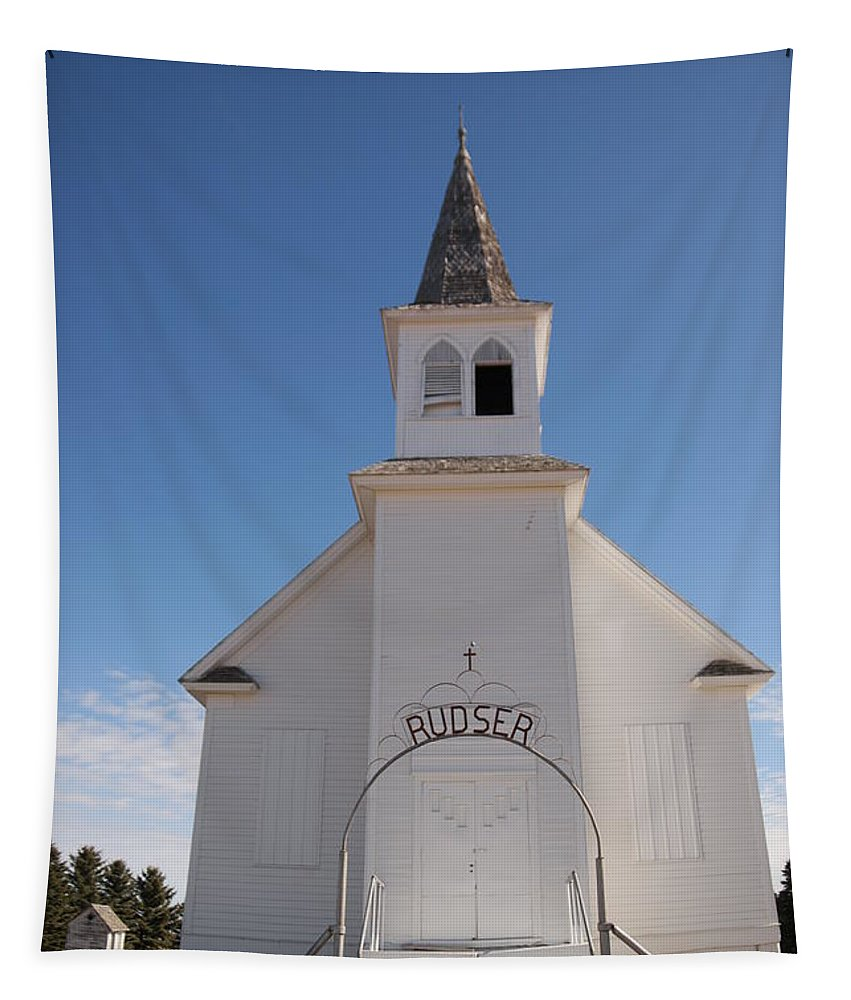 Church Tapestry featuring the photograph Rudsor Lutheren Church by Jeff Swan