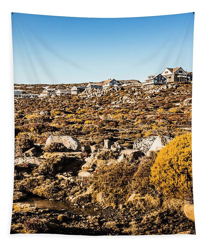 Australia Tapestry featuring the photograph Rugged Mountain Town by Jorgo Photography - Wall Art Gallery