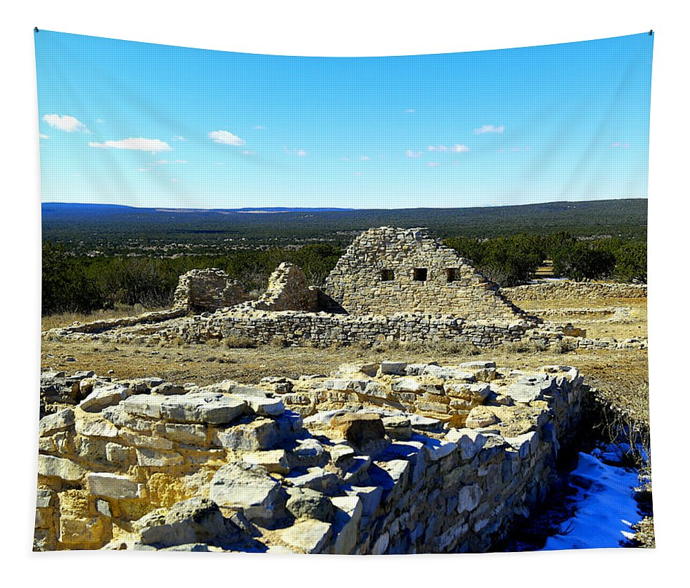 Ruins Tapestry featuring the photograph Ruins Of Gran Quivira by Jeff Swan