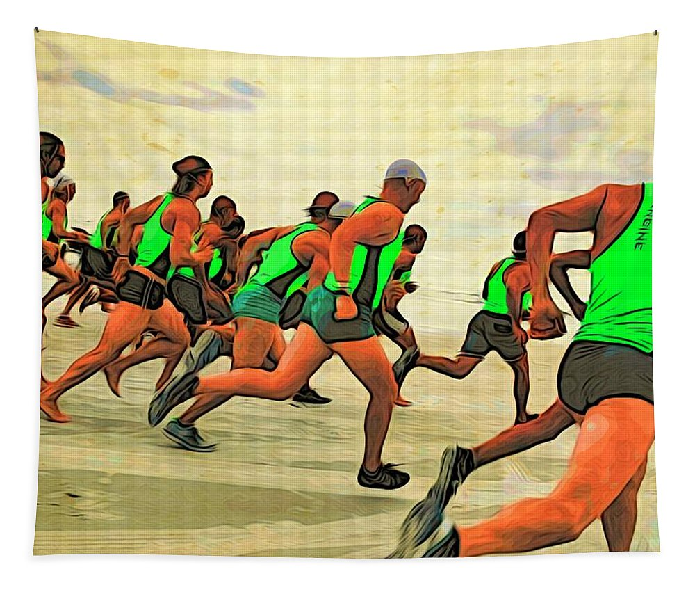 Alicegipsonphotographs Tapestry featuring the photograph Running Start by Alice Gipson