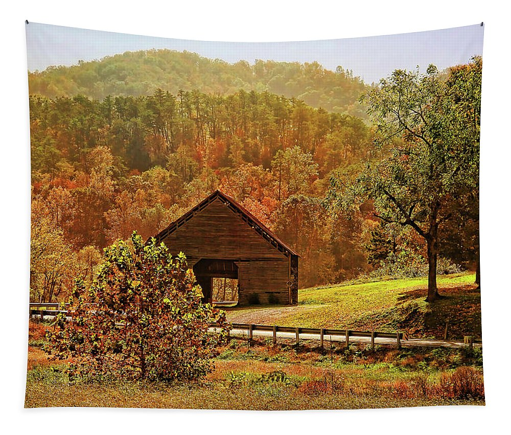 Appalachia Tapestry featuring the photograph Rural Appalachia by HH Photography of Florida