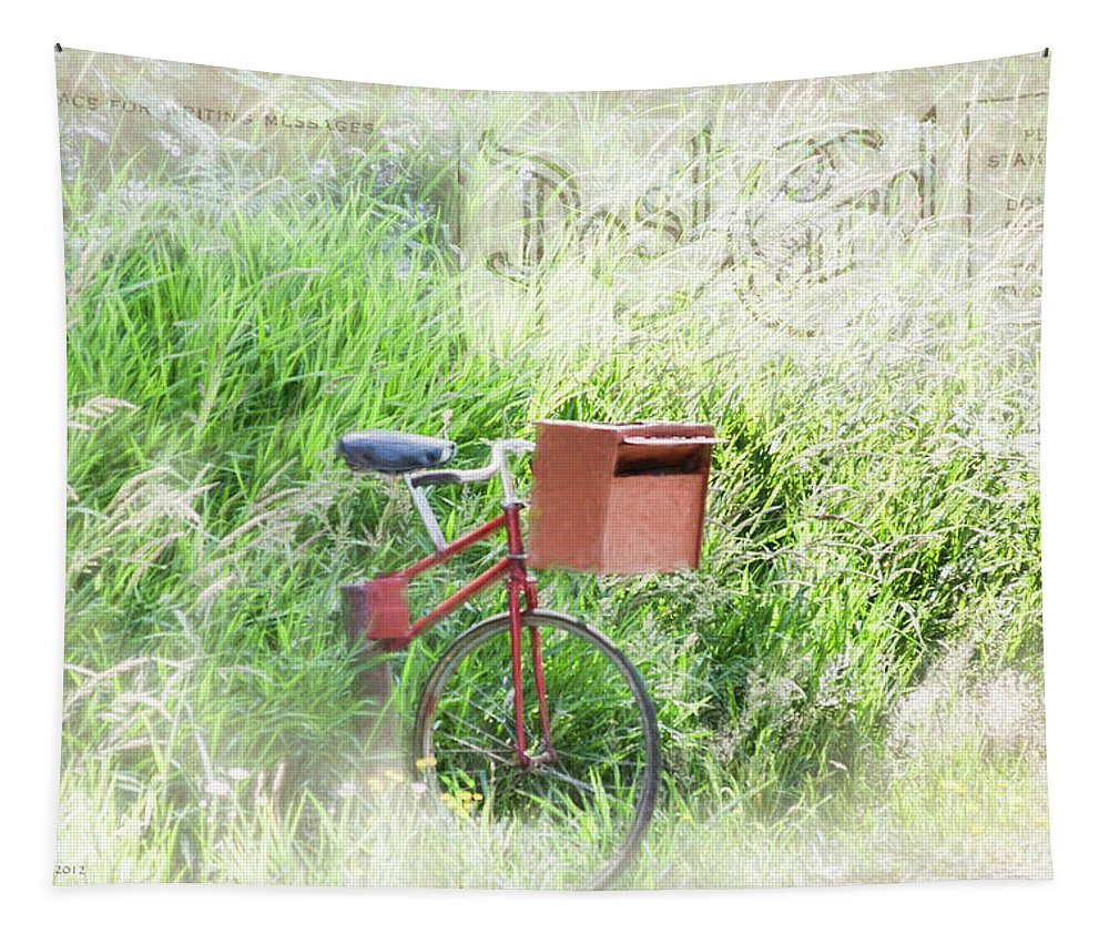 Mailbox Tapestry featuring the photograph Rural Mailbox by Jean OKeeffe Macro Abundance Art