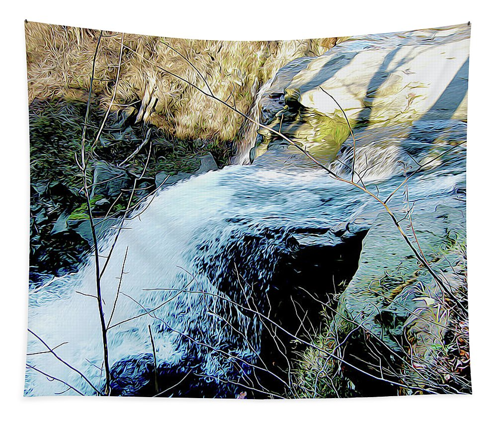 Nature Tapestry featuring the photograph Rushing Water by Linda Carruth