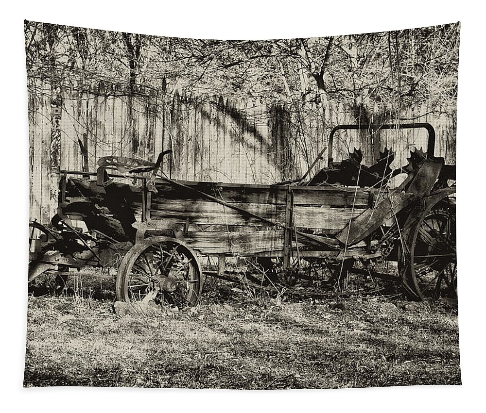 Farm Tapestry featuring the photograph Rust Bucket by Bill Cannon