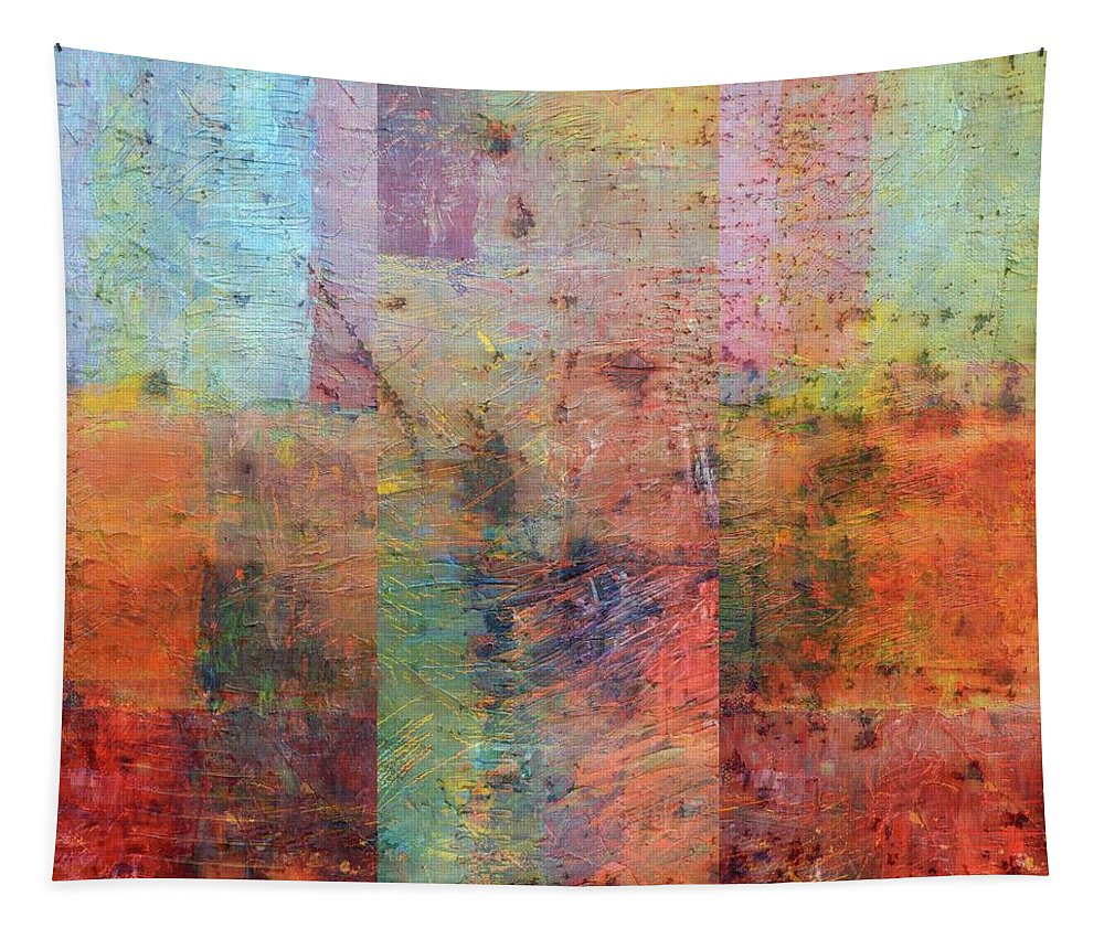 Collage Tapestry featuring the painting Rust Study 1.0 by Michelle Calkins