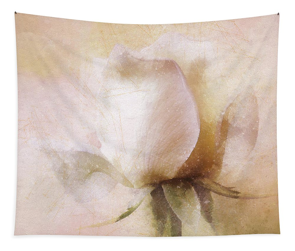 Rose Tapestry featuring the mixed media Rustic Rose by Terry Davis