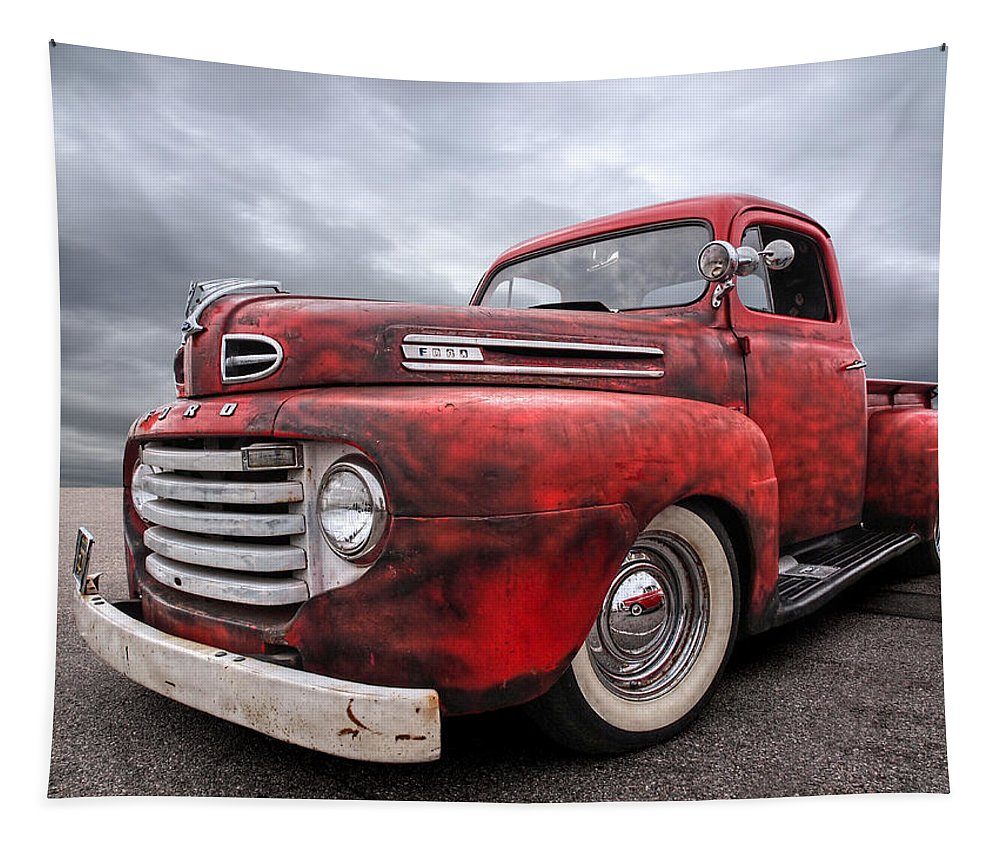 Ford Truck Tapestry featuring the photograph Rusty Jewel - 1948 Ford by Gill Billington