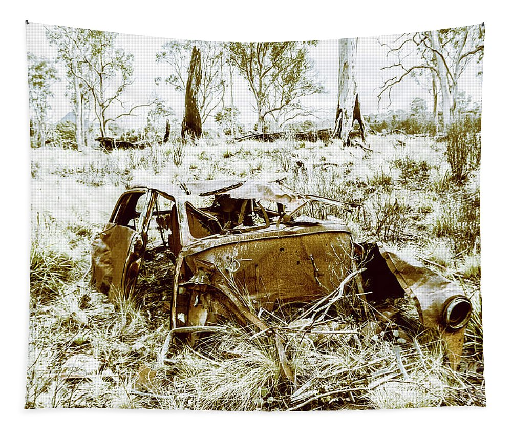 Holden Tapestry featuring the photograph Rusty Old Holden Car Wreck by Jorgo Photography - Wall Art Gallery