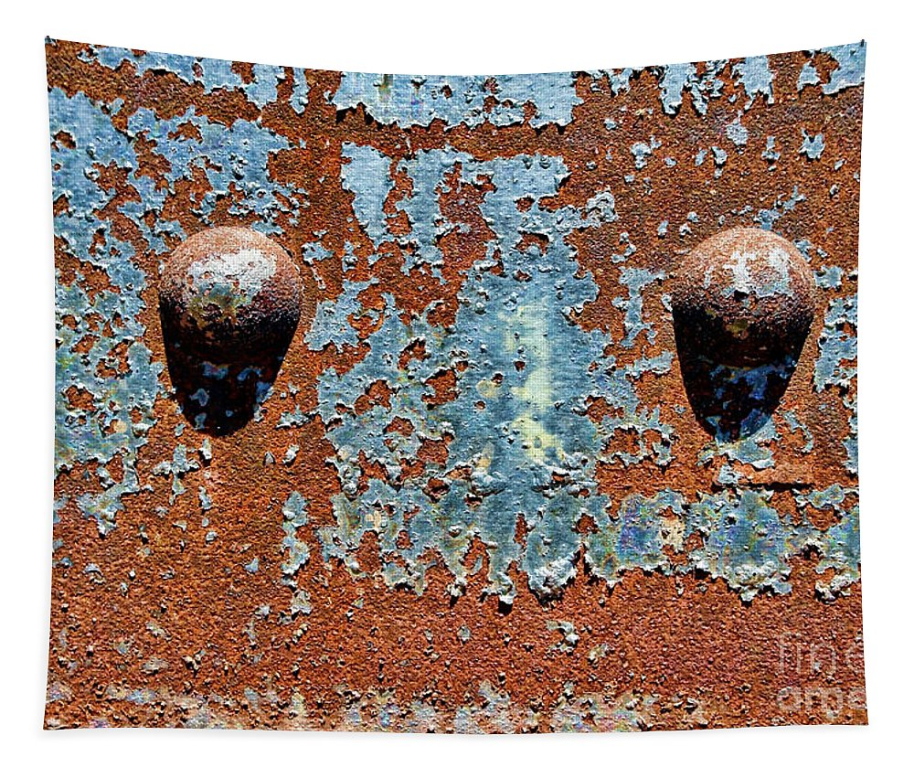 Rivet Tapestry featuring the photograph Rusty Rivets by Olivier Le Queinec