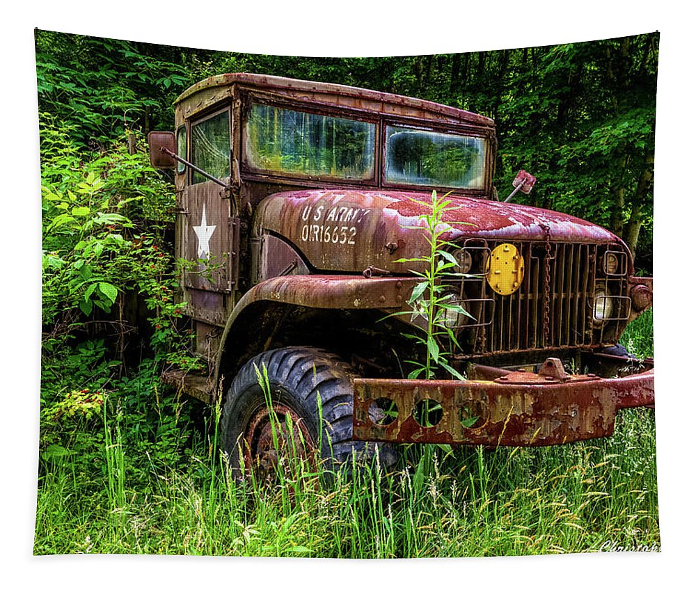 Antique Tapestry featuring the photograph Rusty Warrior by Christopher Holmes