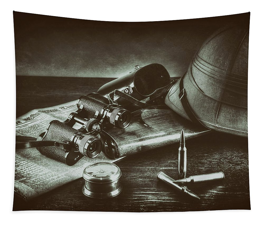 Helmet Tapestry featuring the photograph Safari_old by Hans Zimmer