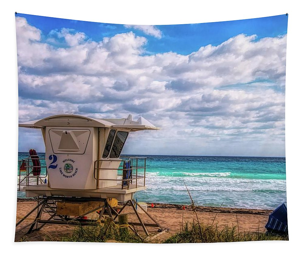 Beach Tapestry featuring the photograph Safe Harbor In Oil by Lynn Bauer