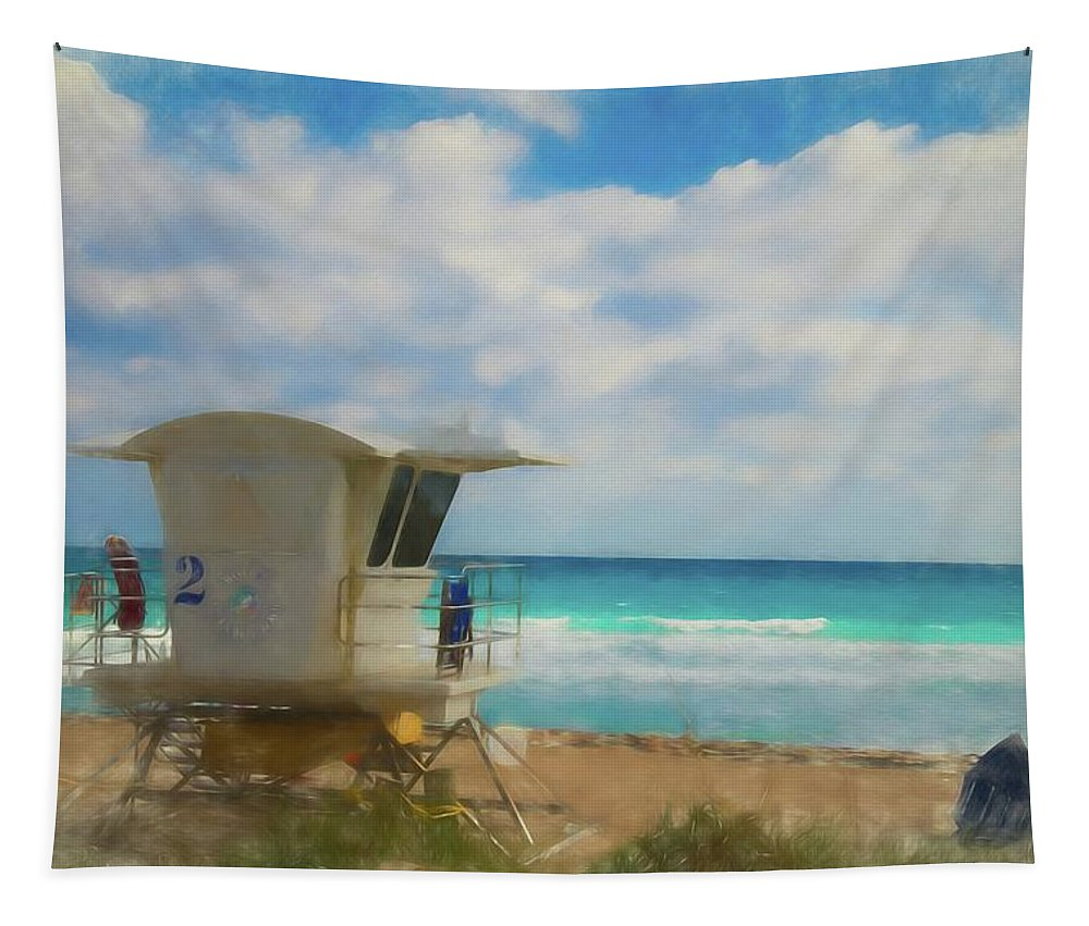 Beach Tapestry featuring the photograph Safe Harbour by Lynn Bauer