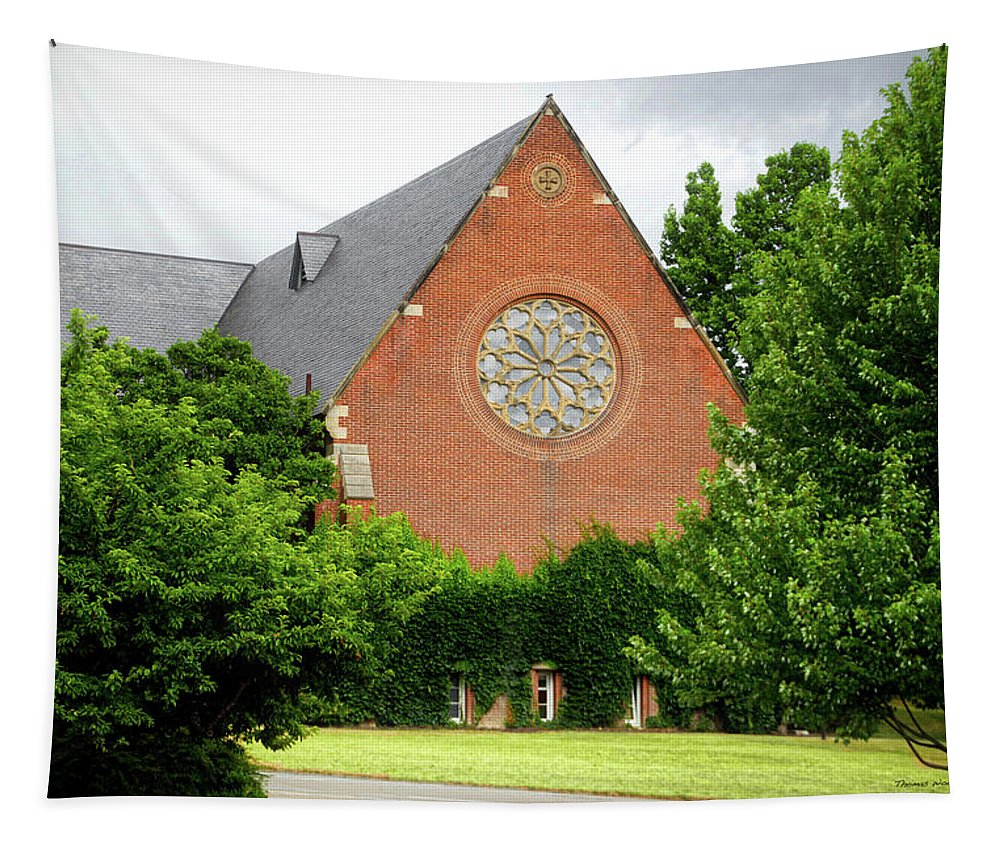 Cornell University Tapestry featuring the photograph Sage Chapel Cornell University Ithaca New York 02 by Thomas Woolworth