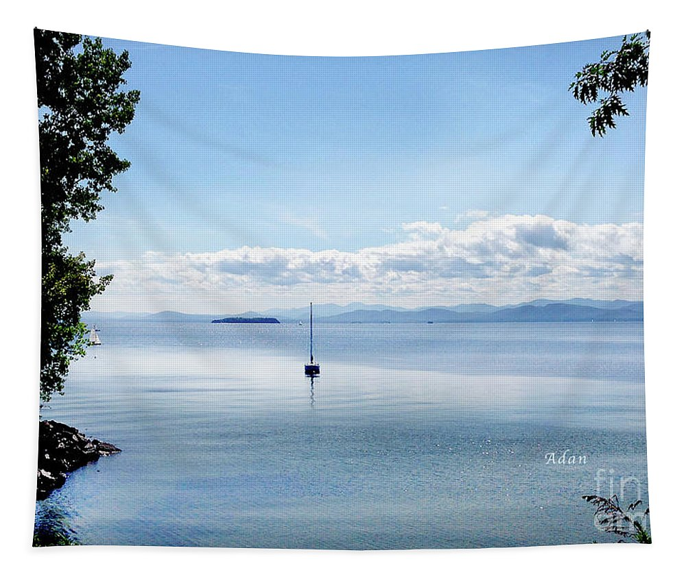 Sailboat Tapestry featuring the photograph Sailboat Resting by Felipe Adan Lerma